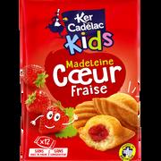 Ker Cadélac Madeleines Coeur Fraise Kids Ker Cadelac, X12