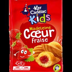 Madeleines coeur fraise kids KER CADELAC, x12