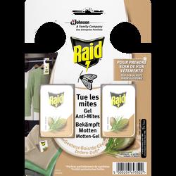 Gel anti-mites senteur bois de cèdre RAID, x2