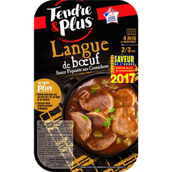 Langue de boeuf cuite, TENDRE ET PLUS, France, 1 pièce