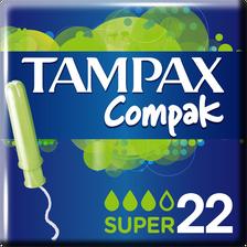 Tampon compak super avec applicateur protective skirt TAMPAX, x22