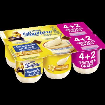 Nestlé Semoule Au Lait Saveur Vanille La Laitiere, 4x115g + 2 Offerts