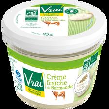 Vrai  Crème Fraîche Bio De Normandie , 38%mg, 20cl