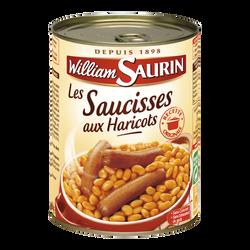 Saucisses aux haricots WILLIAM SAURIN, boîte de 420g