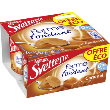 Nestlé Spécialité Laitière Sucrée Au Caramel Ferme Et Fondant Sveltesse, 4x125g