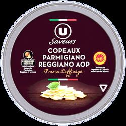 Copeaux de Parmigiano Reggiano AOP lait cru U SAVEURS, 30% de mg, 60g