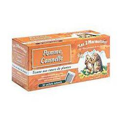 Tisane pomme - cannelle LES 2 MARMOTTES, 35 sachets, 55g
