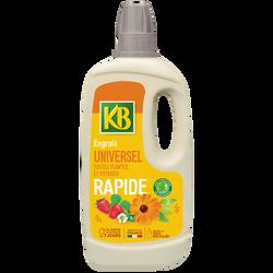 Engrais liquide rapide universel KB 1l avec stimulateur de croissanceHumifirst-bouteille à base de 100% de plastiquerecyclé