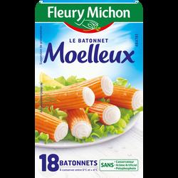 Bâtonnets de surimi moelleux MSC, FLEURY MICHON, x18 , 300g