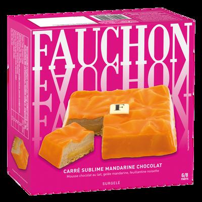 Carré sublime mandarine chocolat lait FAUCHON, 445g