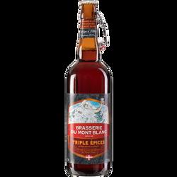 Bière triple épice MONT BLANC 7.2°, bouteille de 75cl