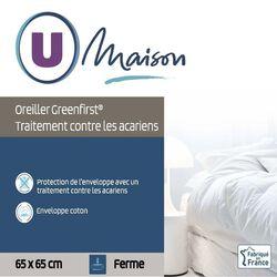 OREILLER FERME TRAITE ANTI-ACARIENS 65X65CM U MAISON
