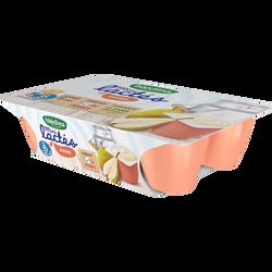 Mini lactés poire BLEDINA, de 6 à 36 mois, 6 pots de 55g