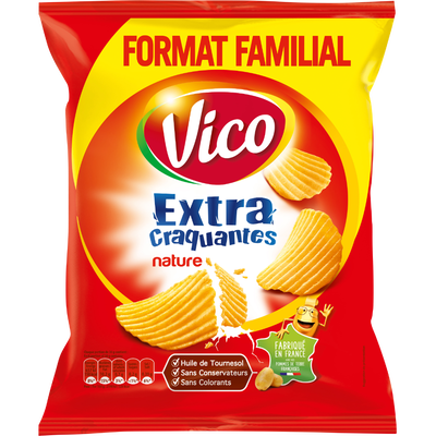 Chips extra craquantes nature VICO, 270g