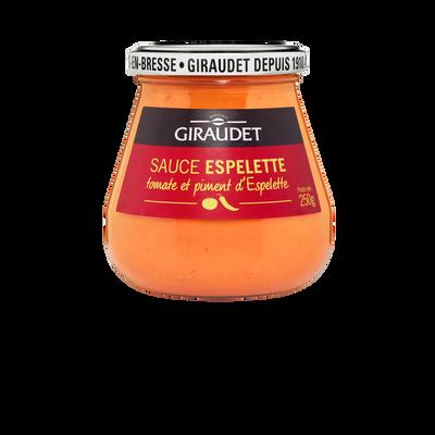 Sauce tomate au piment d'Espelette GIRAUDET, bocal de 250g