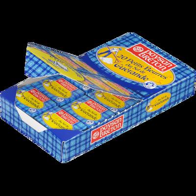 Beurre au sel de Guerande 80% de matière grasse PAYSAN BRETON, 20x10g