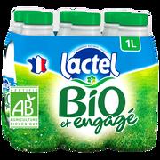 Lactel Lait Écrémé Bio Uht Lactel, 6x1l