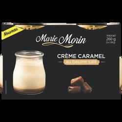 Crème caramel au beurre salé MARIE MORIN 2x130g