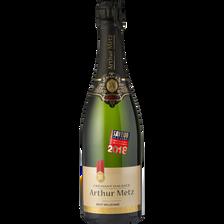 Arthur Metz Vin Blanc Pétillant Crémant D'alsace Brut Millésimé , Bouteille De 75cl