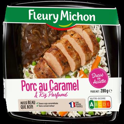 Porc au caramel et riz parfumé FLEURY MICHON, barquette de 280g