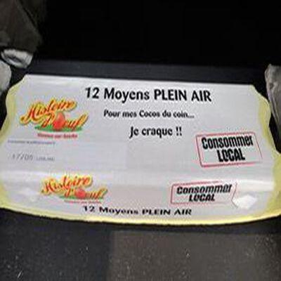 OEUFS PLEIN AIR X12 MOYENS
