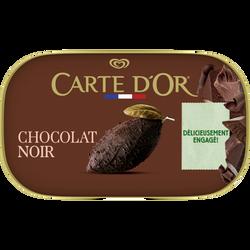 Crème glacée chocolat noir CARTE D'OR, 482g