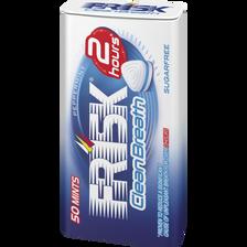 Chewing-gum clean breath menthe sans sucre FRISK, 50 dragées, boîte de35g
