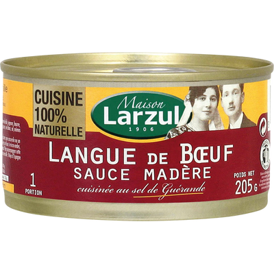 Langue de boeuf sauce madère LARZUL, 205g