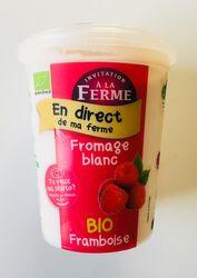 Fromage frais BIO au lait frais de vaches, framboise, FERME D'ANA-SOIZ, pot de 500g