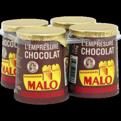Emprésuré au chocolat, MALO, 4x125g