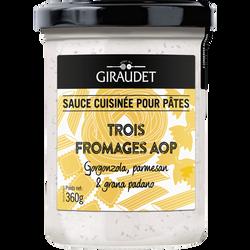 Sauce trois fromages GIRAUDET, pot de 360g