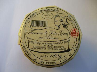 TERRINE DE FOIE GRAS AU PINEAU GAILLARD BOCAL 180G