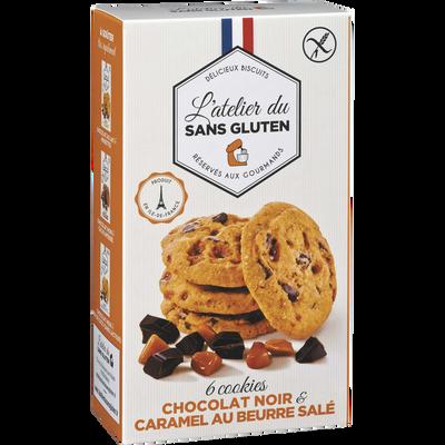 Cookies chocolat noir et caramel beurre salé sans gluten L'ATELIER DUSANS GLUTEN, 150g