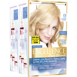 Coloration permanente EXCELLENCE, blond ultra clair naturel n°01
