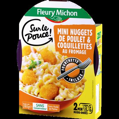 Mini nuggets de poulet et coquillettes au fromage FLEURY MICHON, 280g