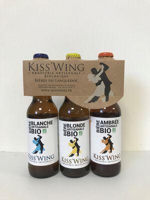 Kiss'Wing Trio de Bière Artisanale Bio 3x33cl