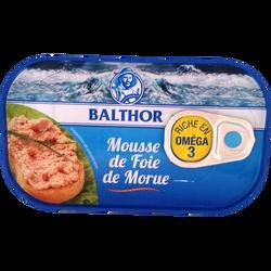 Mousse de foie de morue BALTHOR, 115g