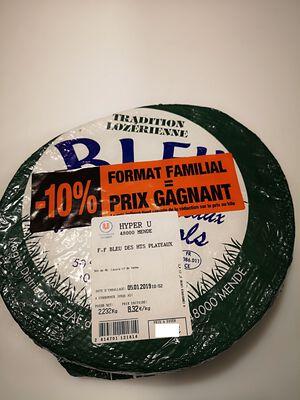 FROMAGE BLEU DES HTS PLATEAUX Format Famillial  - 10 %