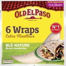 Wraps de blé nature OLD ELD PASO, 350g