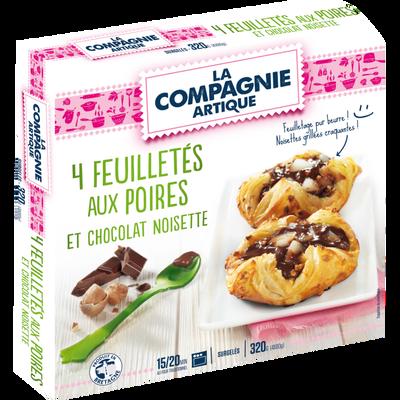 Feuilleté aux poires et chocolat noisette LA COMPAGNIE ARTIQUE, 4x80g
