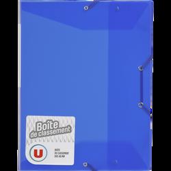 Boîte de classement U, dos 40mm, bleue