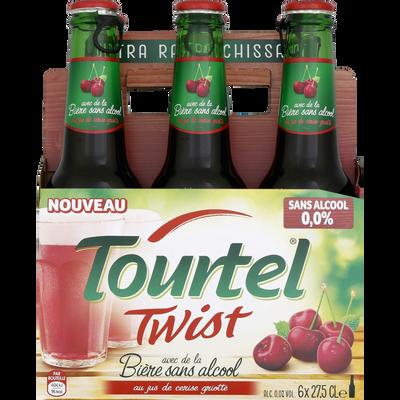 Bière sans alcool twist cerise TOURTEL, 0°, 6x27,5cl
