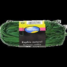 Raphia naturel MAILDOR, vert empire