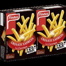 Pommes frites crousti express la classique FINDUS, 2 boîtes de 90g