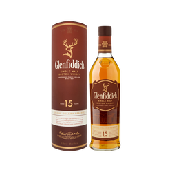 Scotch whisky single malt  réserve GLENFIDDISH, 15 ans d'âge, 40°, 70cl sous étui cuir