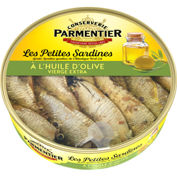 Petites sardines huile d'olive vierge extra PARMENTIER, 150g