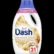 Lessive liquide 2en1 orchidée dorée DASH, x21 soit 1,115ml