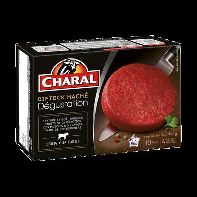 Bifteck haché dégustation 10% de MG CHARAL, 4x100g soit 400g