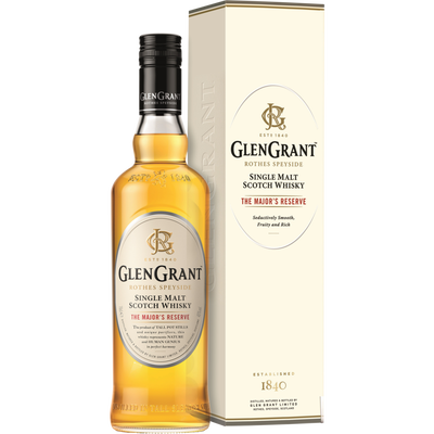 "Scotch whisky single malt ""The Major's Réserve"" GLEN GRANT, 40°, bouteille de 70cl"