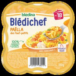 BLEDICHEF Paëlla des tout-petits dès 18 mois BLEDINA 250g